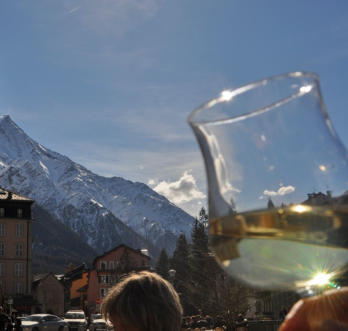 Lunch in Chamonix