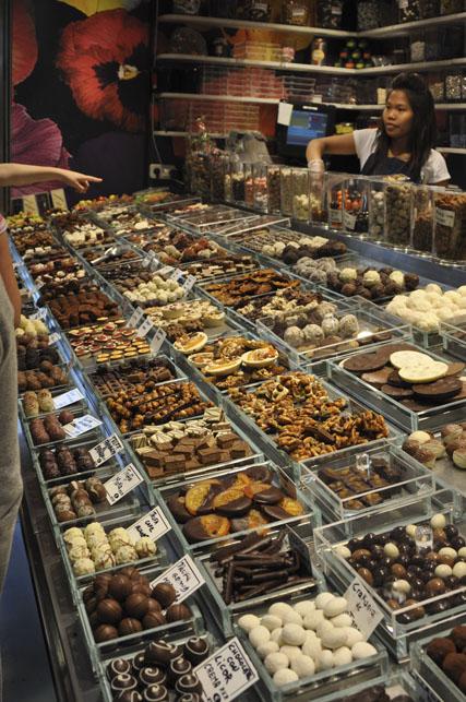 Chocolate at Boqueria Market