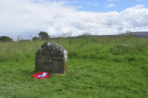 Culloden Battlefield Grave Marker