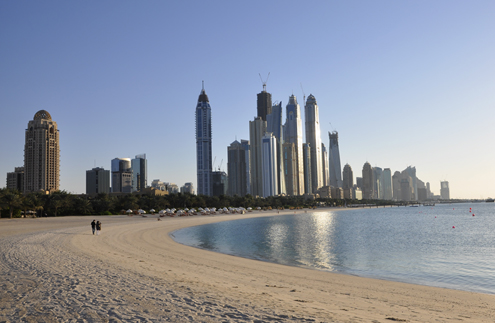 Beach in Dubai