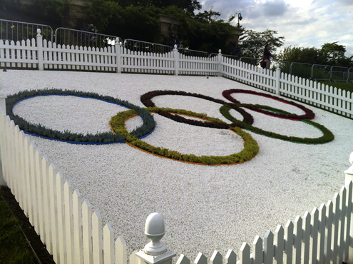 Olympic Rings on Henman Hill